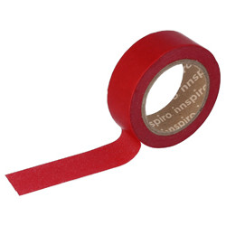 Cinta Masking Tape rojo liso.