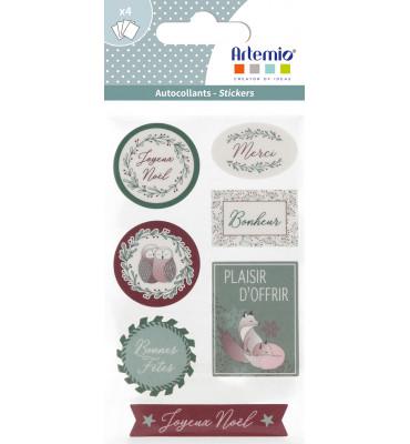 4 Sheets stickers Isatis