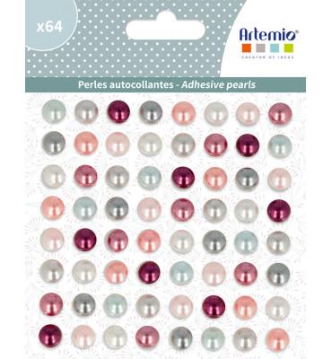 64 perles adhesives Isatis