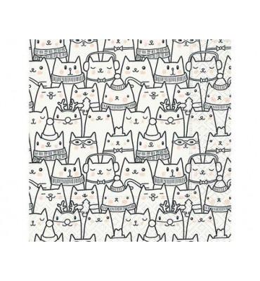 Servilletas papel Snow cats...