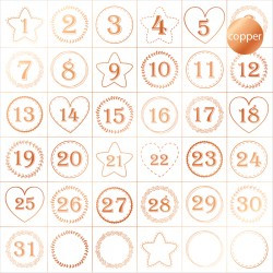 ACETATO FOIL - ADVENT CALENDAR